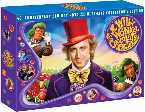 Willy Wonka & The Chocolate Fa Wilder Alberton Ostrum Blu Ray Ws 40th Anniv. Ed. G 2 Br Incl. DVD