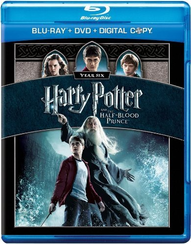 Harry Potter & The Half Blood Prince Radcliffe Watson Grint Blu Ray + DVD + Digital Copy