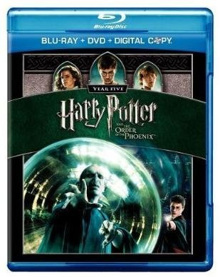 Harry Potter & The Order Of The Phoenix Radcliffe Watson Grint Blu Ray DVD Digital Copy