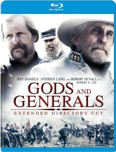 Gods & Generals Conner Daniels Lang Duvall Blu Ray Extended Director's Cut