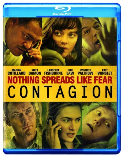 Contagion Winslet Damon Platrow Blu Ray Movie Only Edition + Ultraviolet Digital C