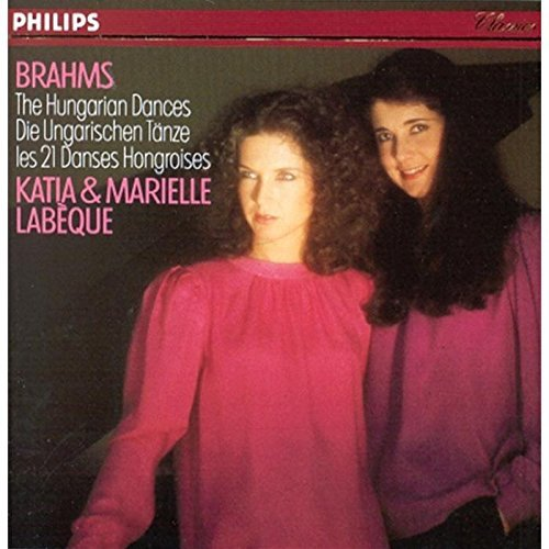 J. Brahms Hungarian Dances Labeque*katia & Marielle (pnos