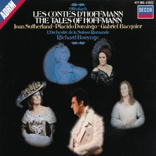 J. Offenbach Tales Of Hoffmann Comp Opera Sutherland Domingo Tourangeau Bonymge Suisse Romande Orch
