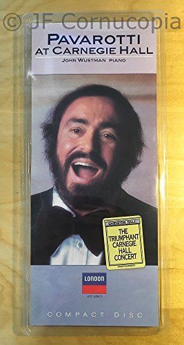 Luciano Pavarotti At Carnegie Hall 1987 Songs Pavarotti (ten) Wustman (pno)