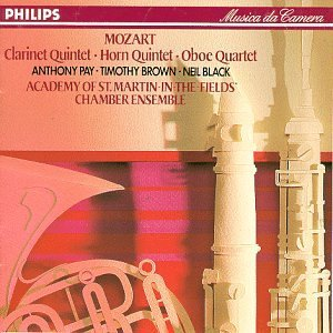 Academy Of St. Martin In The F Clarinet & Horn Quintets Pay Brown Black Marriner Asmf