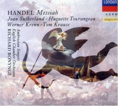 George Frideric Handel Messiah Comp Sutherland Tourangeau Krenn & Bonynge English Co