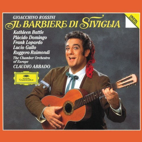 G. Rossini Barber Of Seville Comp Opera Battle Domingo Lopardo Gallo + Abbado Co Of Europe