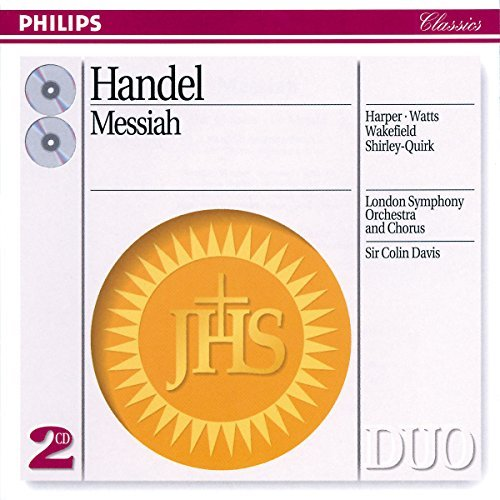 George Frideric Handel Messiah Comp Harper Watts Wakefield & Davis London So & Choir