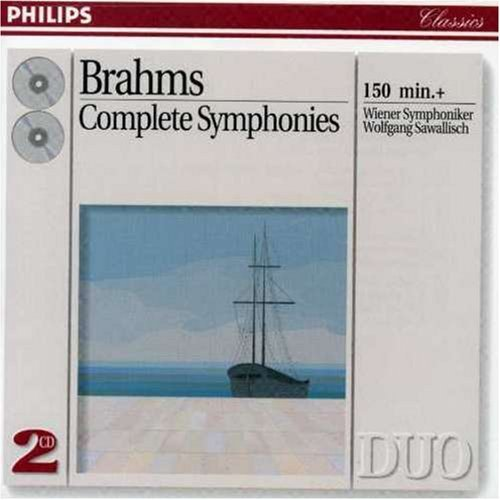 Brahms J. Sym 1 4 Comp 2 CD Set Sawallisch Vienna So