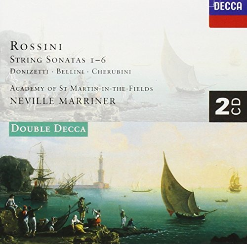 Rossini Donizetti Cherubini & Son Str 1 6 Qt Str Etud 2 CD Set Marriner Asmf