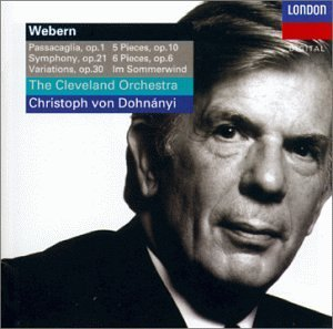 A. Webern Passacaglia Sym Var (5) Pieces Dohnanyi Cleveland Orch