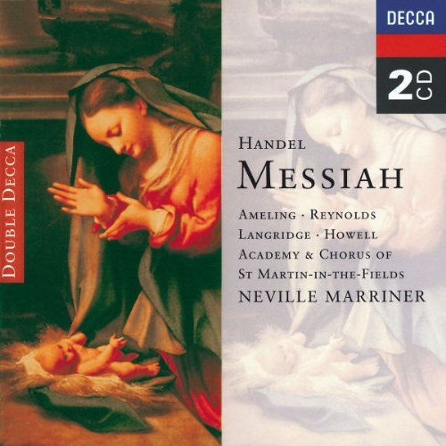 George Frideric Handel Messiah Comp Ameling Reynolds Langridge & Marriner Asmf