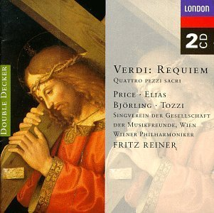 Price Reiner Vienna Philharmon Requiem Four Sacred Pieces Price Elias Bjorling Tozzi Reiner & Mehta Various