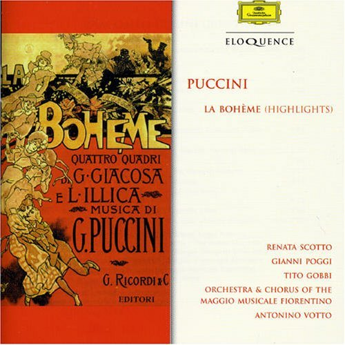 Carbonari Giorgetti Scotto Vot Puccini La Boheme (highlights Import Aus