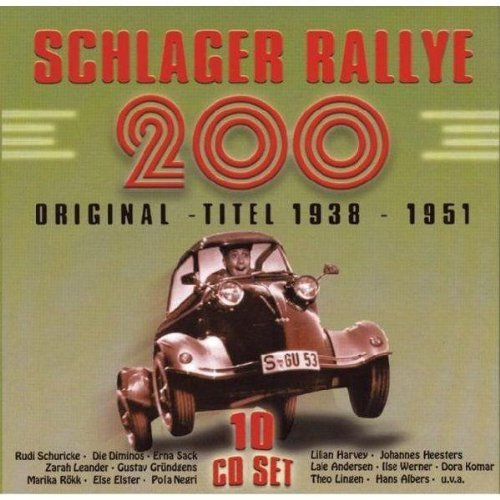 Schlager Rallye 200 Vol. 2 Schlager Rallye 200 193 Import Eu 10 CD Set