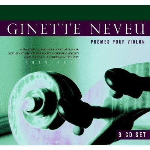 Ginette Neveu Poemes Pour Violon Import Eu 3 CD Set