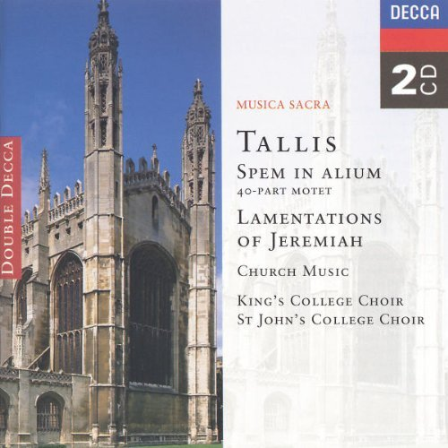Spem In Alium Lamentations Of Spem In Alium Lamentations Of 2 CD Set King's College Choir