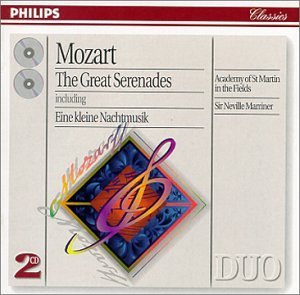 W.A. Mozart Great Serenades 2 CD Set Marriner Asmf
