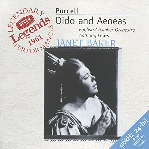 H. Purcell Dido & Aeneas Comp Opera Baker Clark Poulter & Lewis English Co