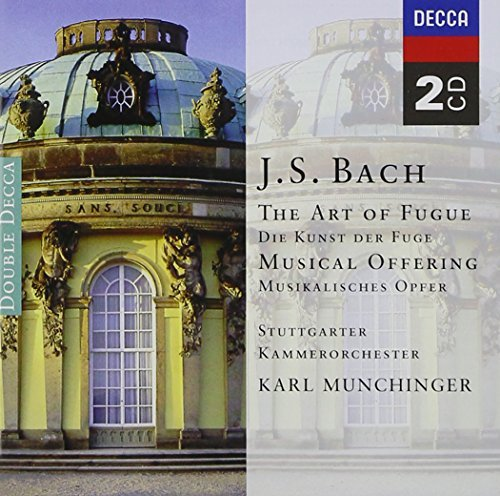 Johann Sebastian Bach Art Of Fugue Musical Offering 2 CD Munchinger Stuttgart Co