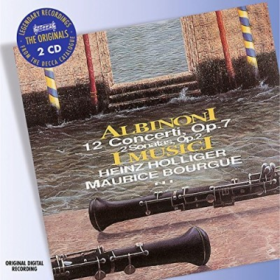 T. Albinoni 12 Concertos 2 Sons Holliger (ob) Bourgue (ob) 2 CD