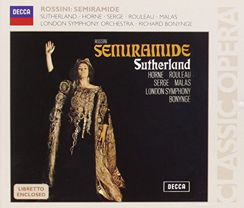Gioachino Rossini Semiramide Sutherland (voc) Bonynge London So