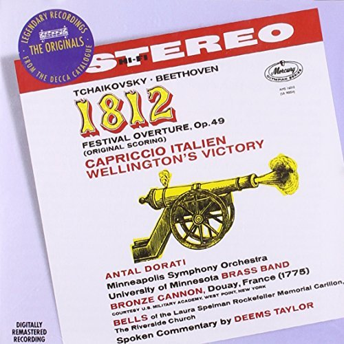 Tchaikovsky Beethoven 1812 Overture Capriccio Italie Dorati Minneapolis So