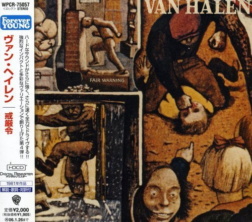Van Halen Fair Warning Import Jpn Remastered