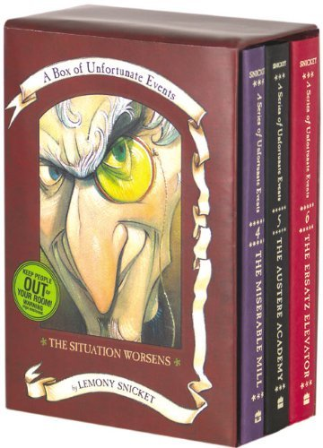 Lemony Snicket Box Of Unfortunate Events The Situation Worsens Books 4 6