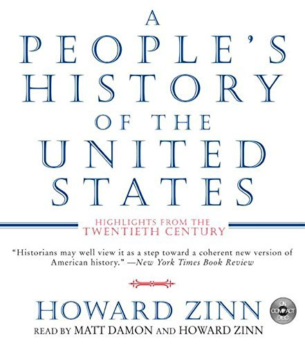 Howard Zinn A People's History Of The United States CD Highlights From The 20th Century Abridged
