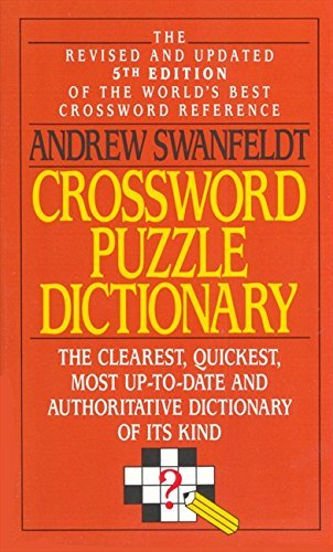 Andrew Swanfeldt Crossword Puzzle Dictionary 0005 Edition;