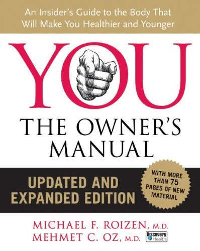 Mehmet C. Oz You The Owner's Manual Updated And Expanded Edition Updated Expand