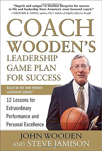 John Wooden Coach Wooden's Leadership Game Plan For Success 12 Lessons For Extraordinary Performance And Pers