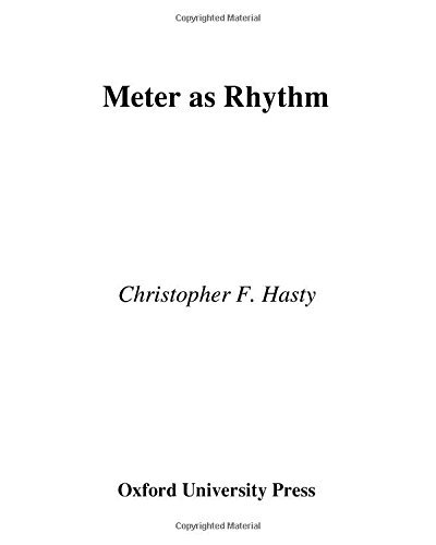 Christopher Hasty Meter As Rhythm