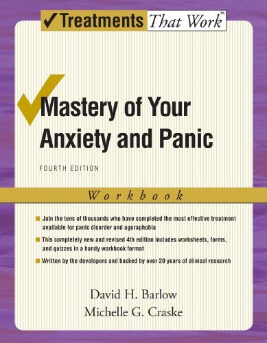 David H. Barlow Mastery Of Your Anxiety And Panic Workbook 0004 Edition;