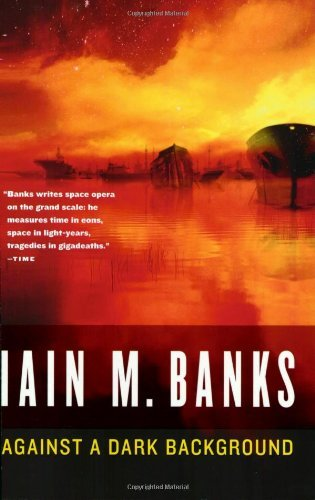 Iain M. Banks Against A Dark Background