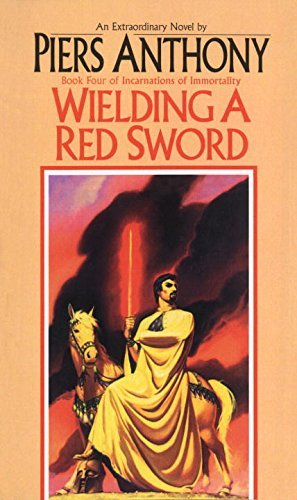 Piers Anthony Wielding A Red Sword