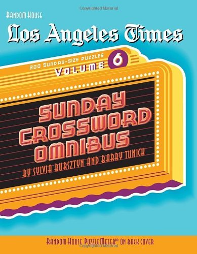 Sylvia Bursztyn Los Angeles Times Sunday Crossword Omnibus Volume