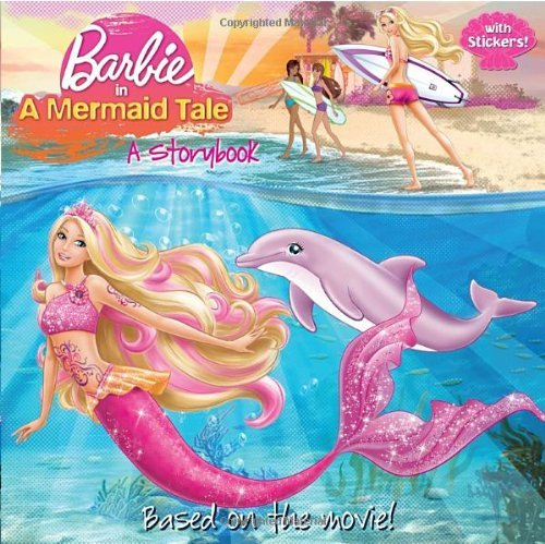 Mary Man Kong Barbie In A Mermaid Tale A Storybook (barbie) [with Sticker(s)]