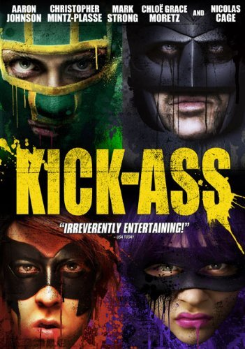 Kick Ass Cage Johnson Mintz Plasse DVD R Ws