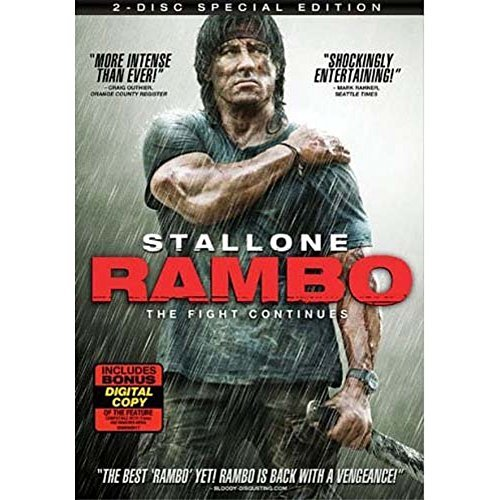 Rambo (2008) Stallone Sylvester Ws R DVD With Digital Copy
