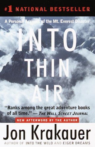 Jon Krakauer Into Thin Air A Personal Account Of The Mount Everest Disaster