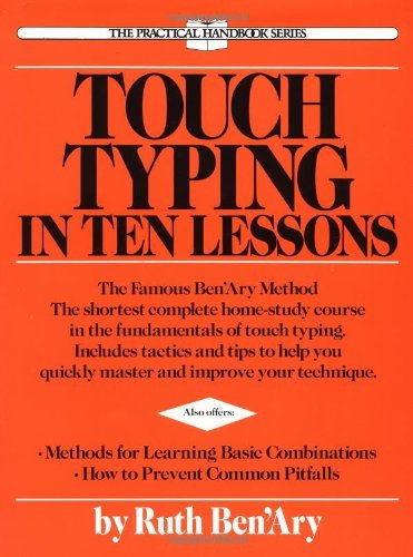 Ruth Ben'ary Touch Typing In Ten Lessons A Home Study Course With Complete Instructions In