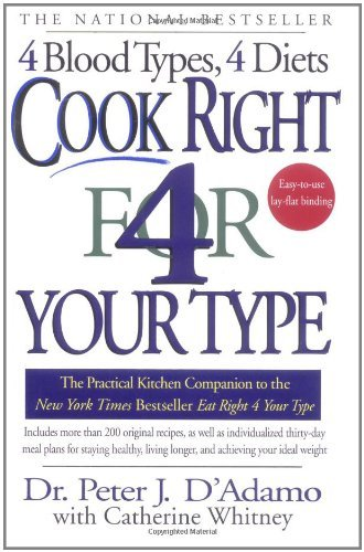 Peter J. D'adamo Cook Right 4 Your Type The Practical Kitchen Companion To Eat Right 4 Yo