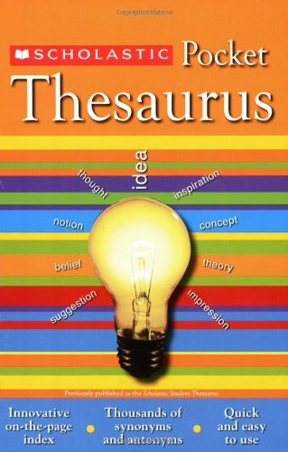 Scholastic Reference Scholastic Pocket Thesaurus