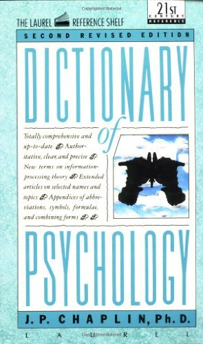 J. P. Chaplin Dictionary Of Psychology