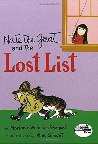 Marjorie Weinman Sharmat Nate The Great And The Lost List