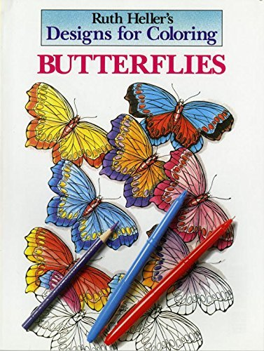 Ruth Heller Designs For Coloring Butterflies