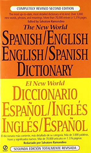Salvatore Ramondino The New World Spanish English English Spanish Dic Completely Revised Second Edition 0002 Edition;revised