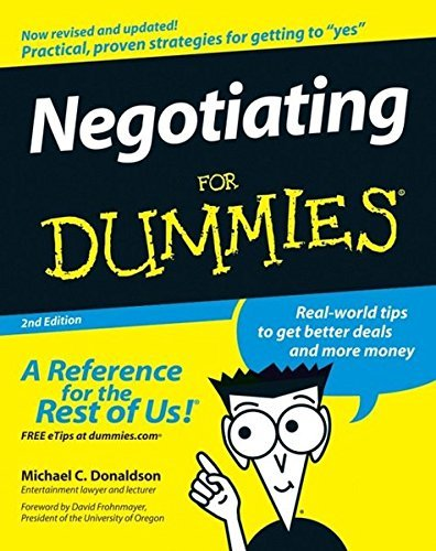 Donaldson Negotiating For Dummies 0002 Edition;